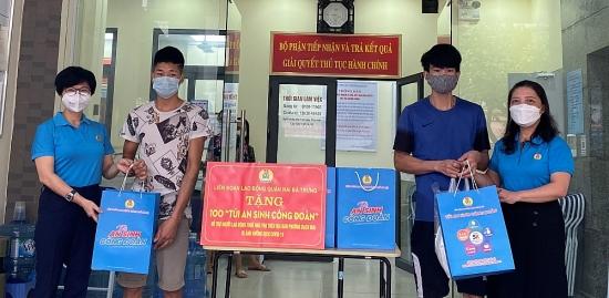 LĐLĐ quận Hai Bà Trưng hỗ trợ 100 người lao động đang thuê trọ trên địa bàn phường Bạch Mai