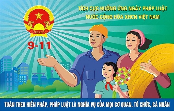 to chuc le huong ung ngay phap luat viet nam 911