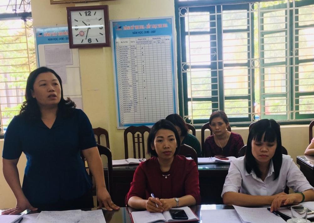 Trường Trung học cơ sở  Liên Hồng tổ chức Hội nghị cán bộ, công chức, viên chức năm học 2020 - 2021