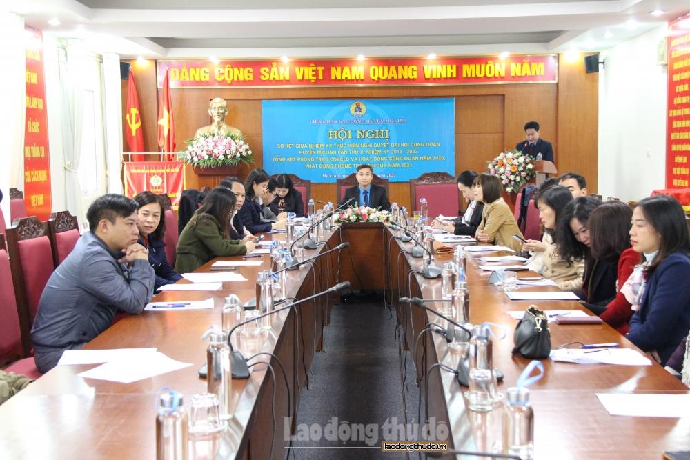 Liên đoàn Lao động huyện Mê Linh phát động phong trào thi đua năm 2021