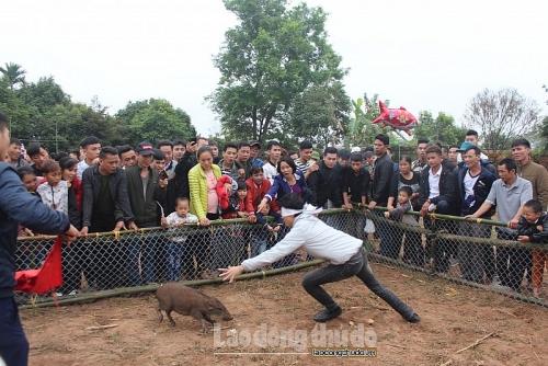 Nhiều trò chơi dân gian được tổ chức tại lễ hội Đền Quán Thánh