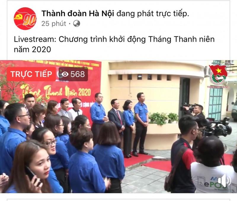 thanh doan ha noi livestream khoi dong thang thanh nien nam 2020