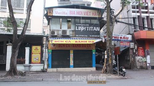 Hà Nội: Cửa hàng, quán ăn đồng loạt đóng cửa chống dịch