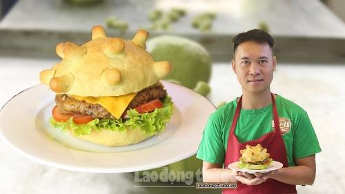 Burger mang hình virut Corona truyền cảm hứng chống dịch cho khách hàng