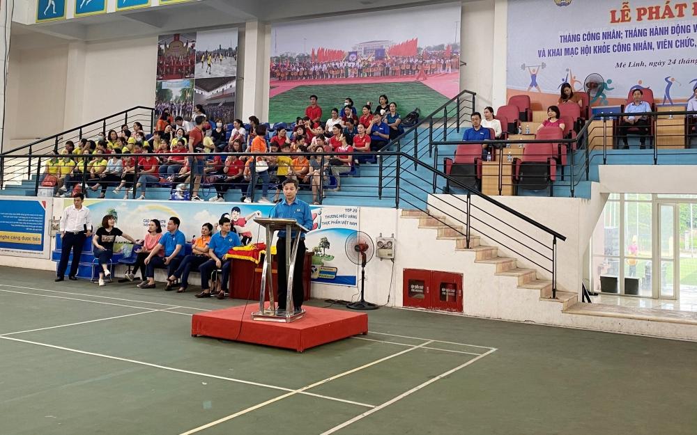Sôi nổi hội khỏe trong công nhân, viên chức, lao động huyện Mê Linh