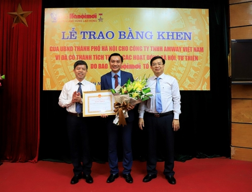 Amway Việt Nam vinh dự nhận Bằng khen của UBND thành phố Hà Nội