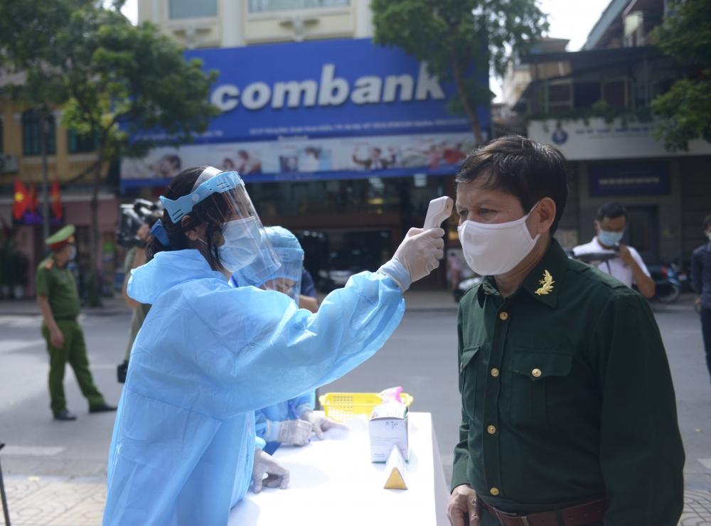 Quận Hoàn Kiếm: Diễn tập đảm bảo an toàn phòng, chống dịch Covid-19 phục vụ bầu cử