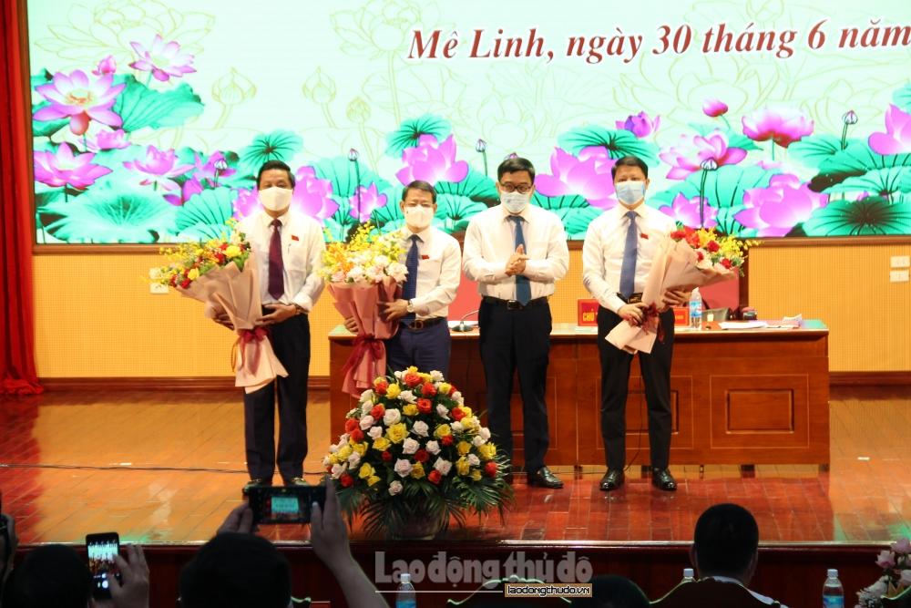 Kiện toàn các chức danh chủ chốt Hội đồng nhân dân, Ủy ban nhân dân huyện Mê Linh