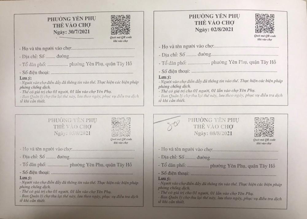 Quận Tây Hồ: Thực hiện phát thẻ đi chợ cho người dân trên địa bàn