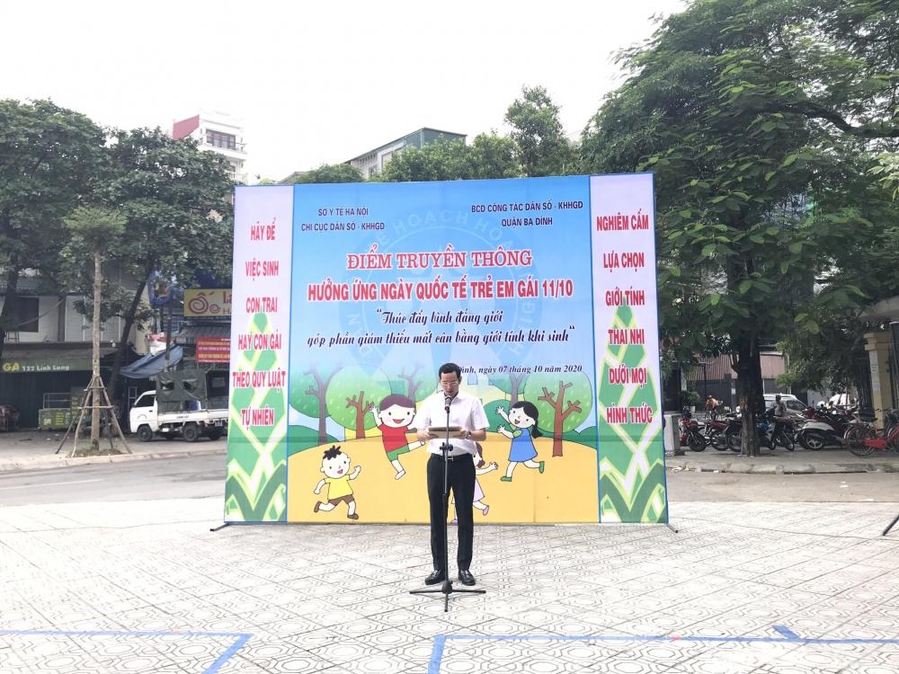 Quận Ba Đình tổ chức điểm truyền thông nhân ngày Quốc tế trẻ em gái 11/10