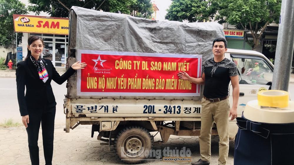 Nhân dân huyện Mê Linh chung sức hướng về miền Trung ruột thịt