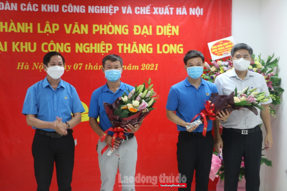Công đoàn các Khu Công nghiệp và Chế xuất Hà Nội ra mắt 2 văn phòng đại diện