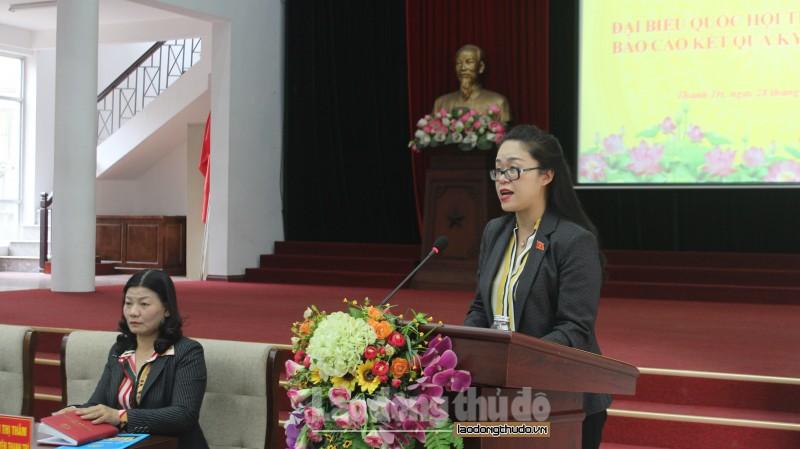 Đại biểu Quốc hội tiếp xúc cử tri huyện Thanh Trì sau kỳ họp thứ Tám
