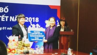 Công đoàn BIDV quyên góp 24.000 suất quà Tết cho người nghèo
