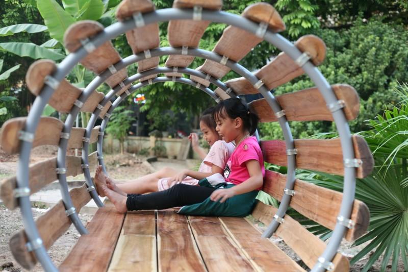 Thêm một không gian hạnh phúc cho trẻ em ở phường Nhân Chính