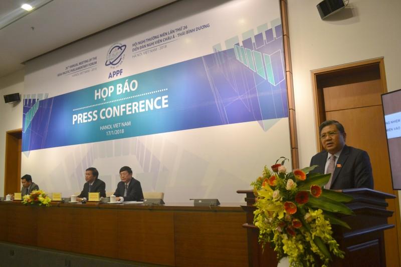 Quốc hội Việt Nam đăng cai tổ chức Hội nghị thường niên APPF-26