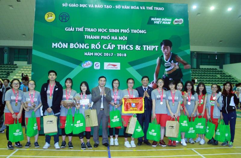 be mac giai bong ro hoc sinh pho thong ha noi nam hoc 2017 2018