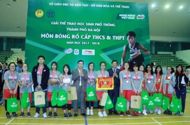 Bế mạc giải bóng rổ học sinh phổ thông Hà Nội năm học 2017 - 2018