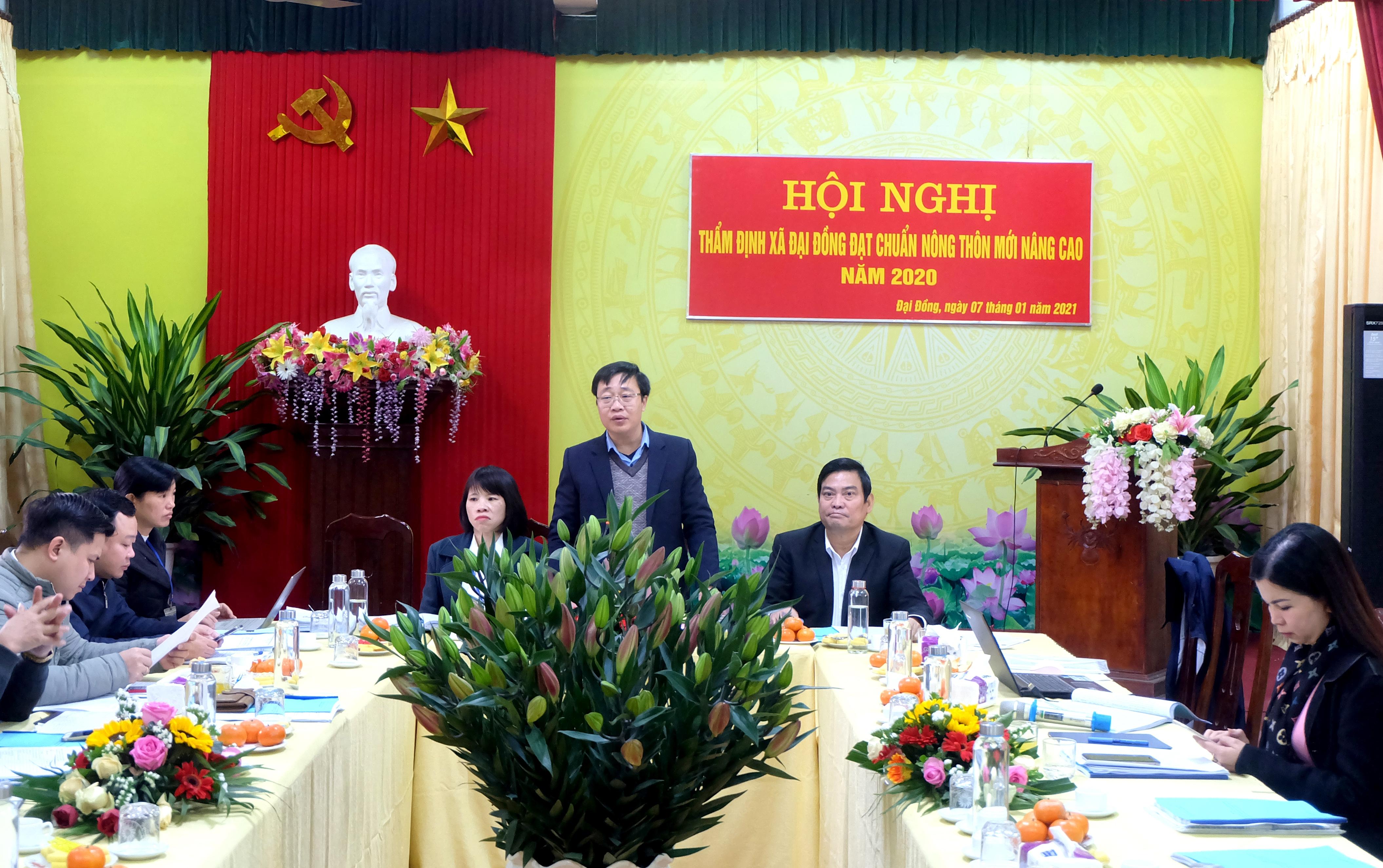 Thẩm định các xã của huyện Thạch Thất, thị xã Sơn Tây đạt chuẩn nông thôn mới nâng cao
