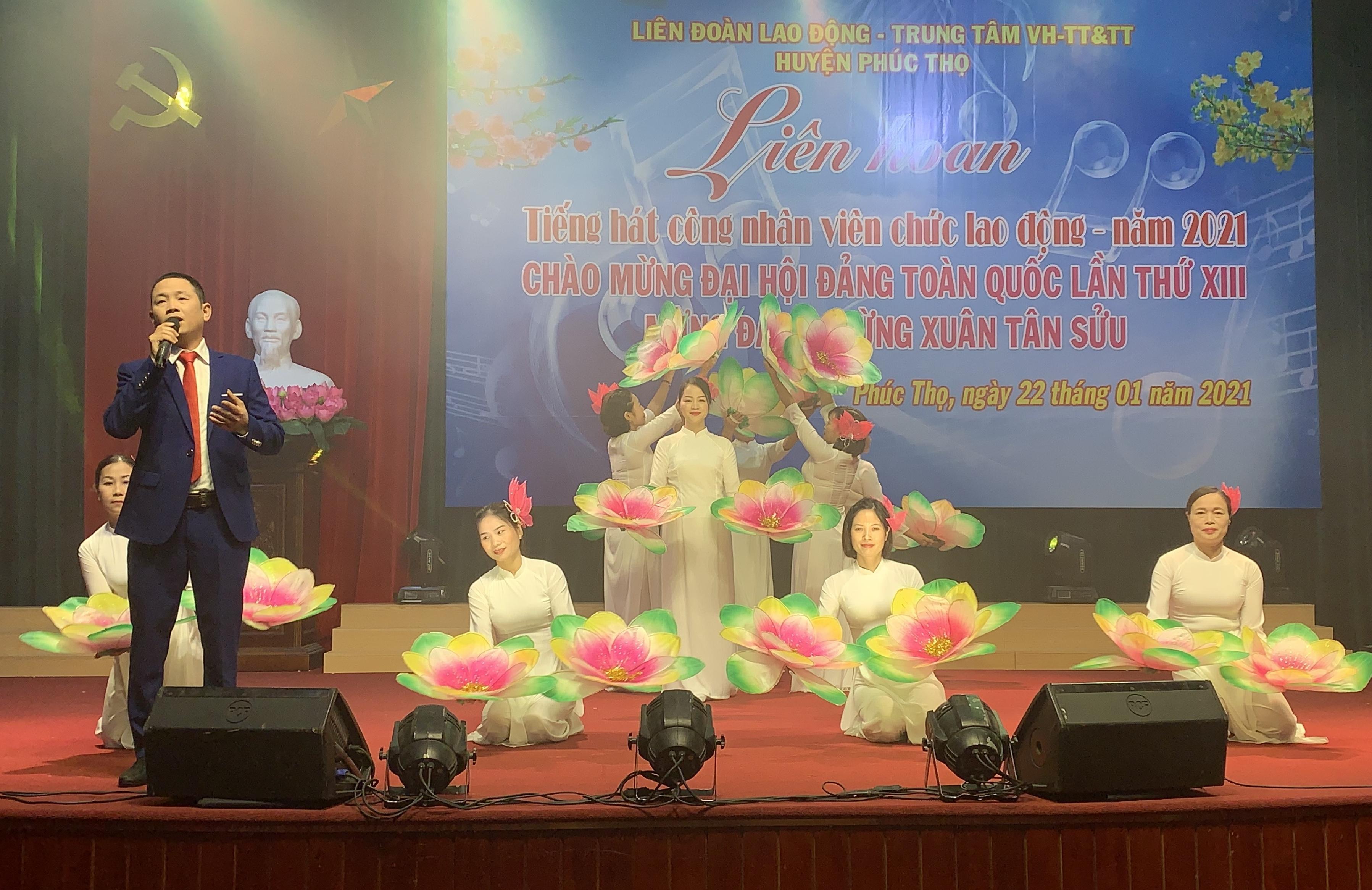 Liên hoan tiếng hát công nhân viên chức lao động huyện Phúc Thọ