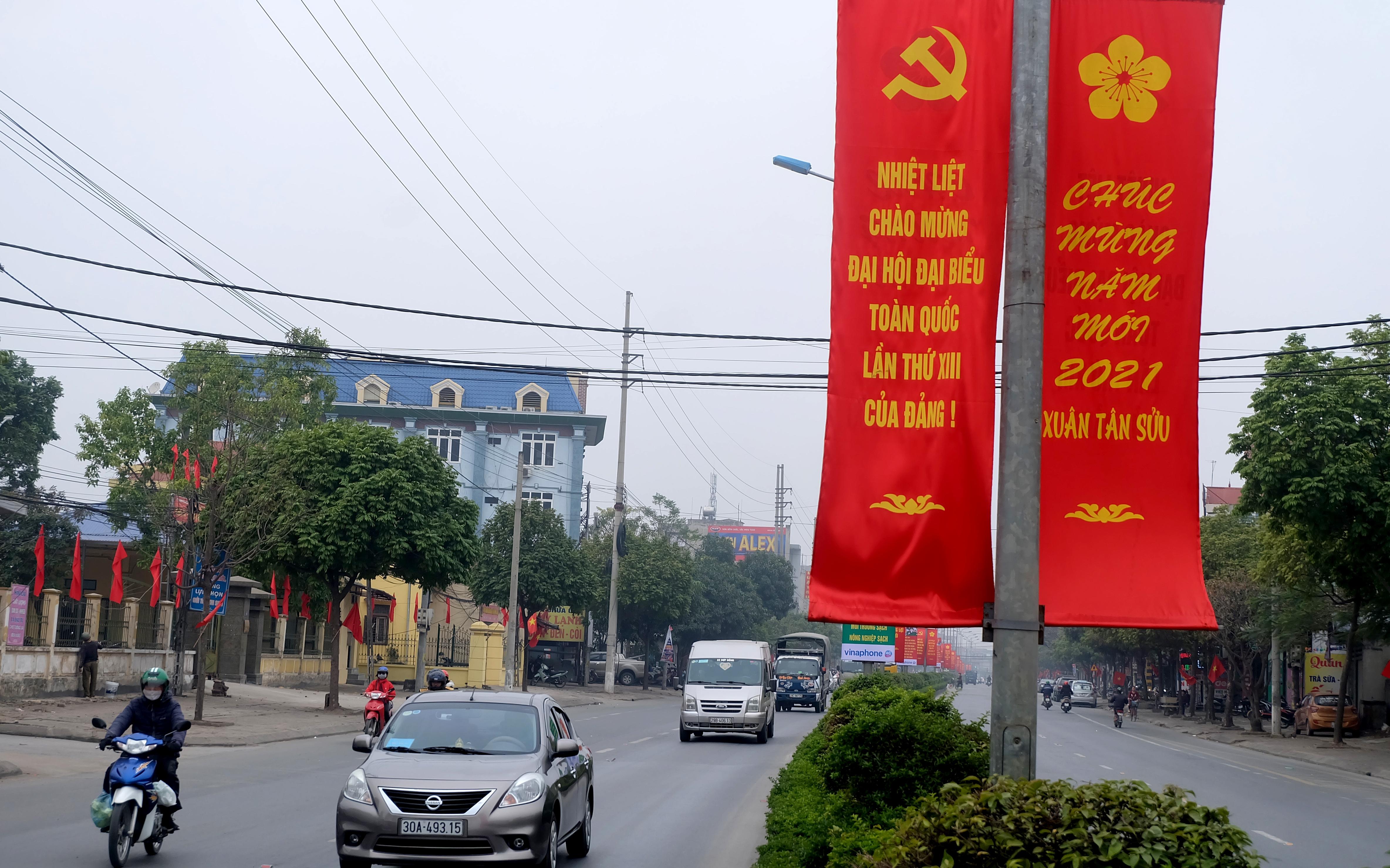 Phúc Thọ: Rộn ràng cờ hoa chào mừng Đại hội Đảng toàn quốc lần thứ XIII