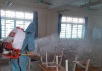 Phúc Thọ: Phun hóa chất phòng chống dịch virus Corona