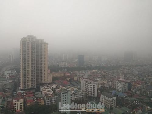 Sương mù khiến chất lượng không khí suy giảm