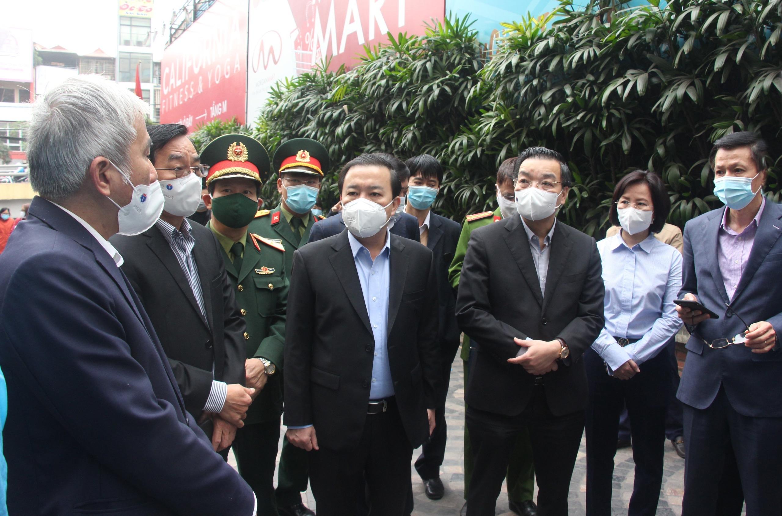 Chủ tịch Uỷ ban nhân dân thành phố Hà Nội kiểm tra công tác phòng chống dịch Covid-19