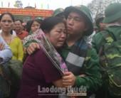Những hình ảnh cảm động trong ngày hội giao quân