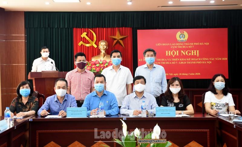 Cụm thi đua số 7 LĐLĐ TP Hà Nội ký giao ước thi đua năm 2020