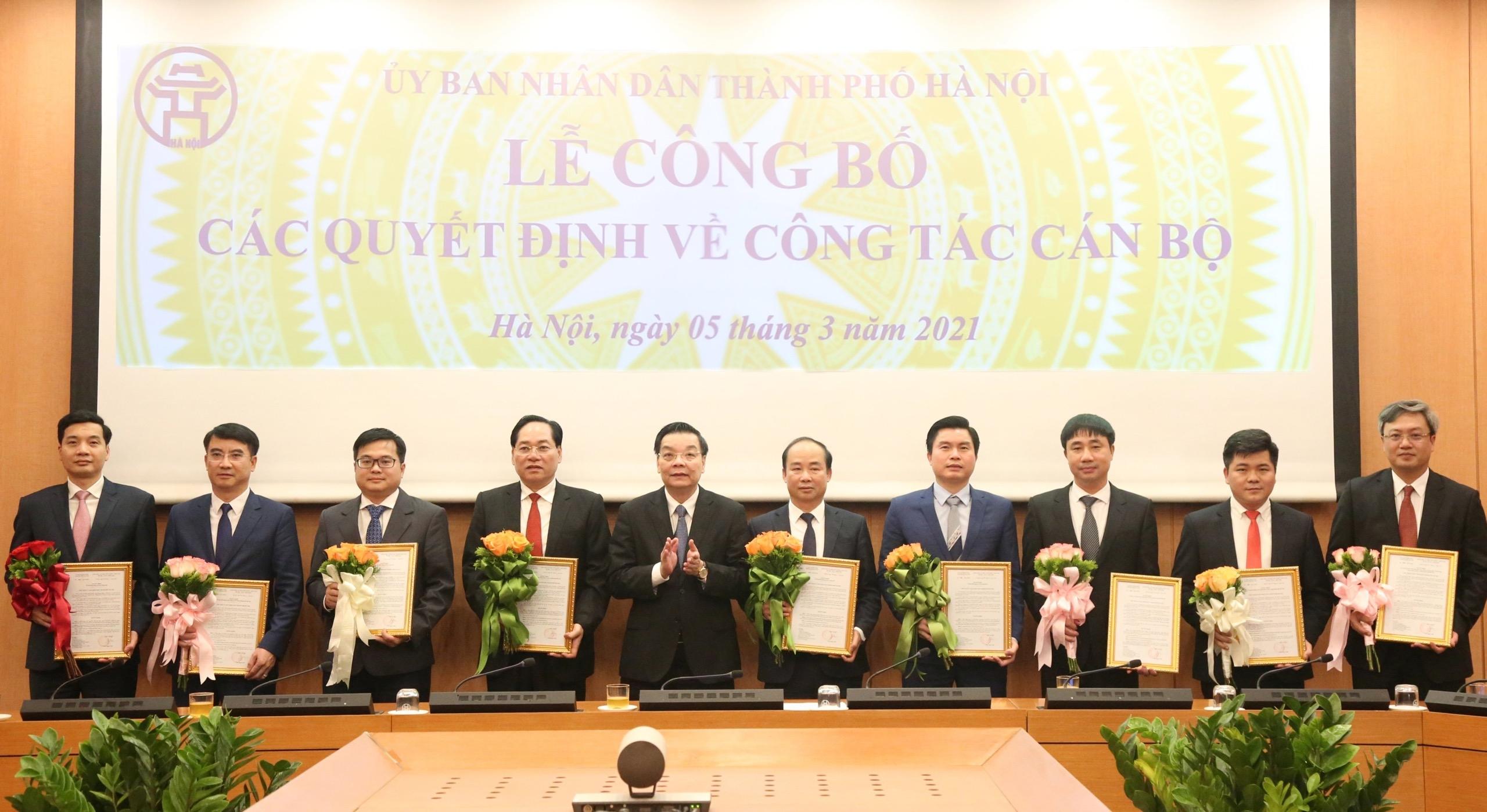 Ủy ban nhân dân thành phố Hà Nội công bố quyết định về công tác cán bộ