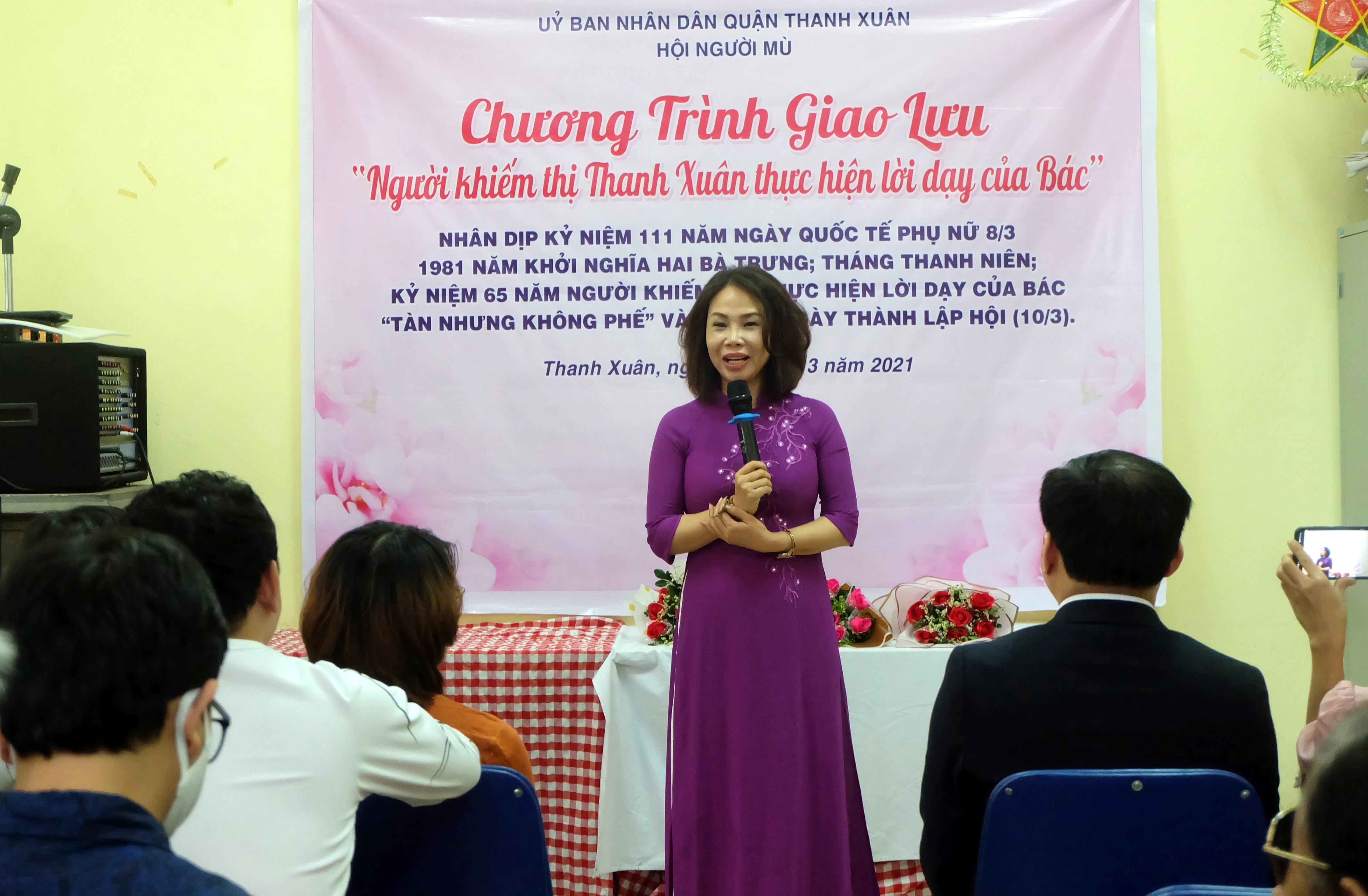 """Người khiếm thị quận Thanh Xuân tích cực thực hiện lời Bác dạy """"tàn nhưng không phế"""""""