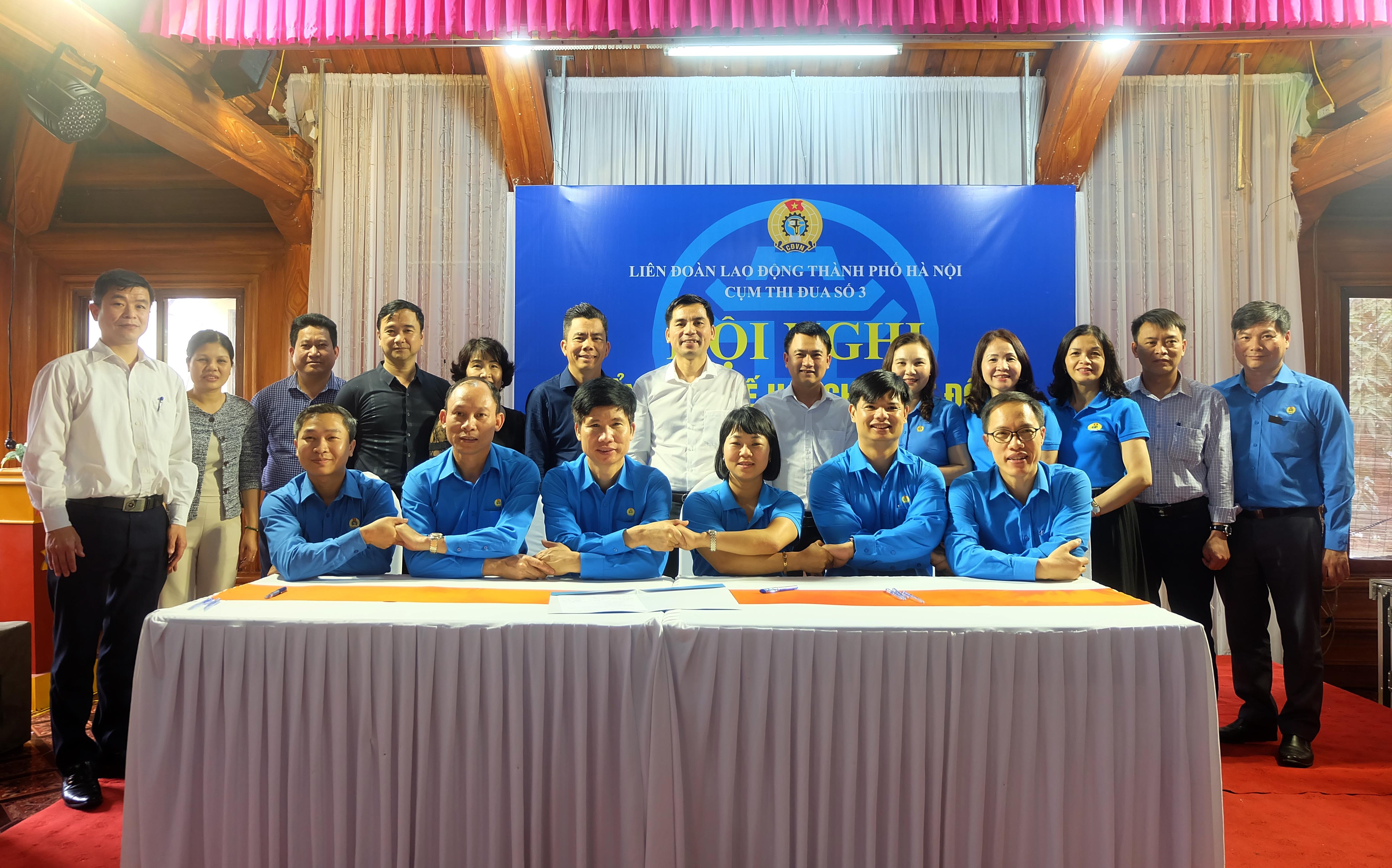 Cụm thi đua số 3 Liên đoàn Lao động Thành phố ký giao ước thi đua năm 2021