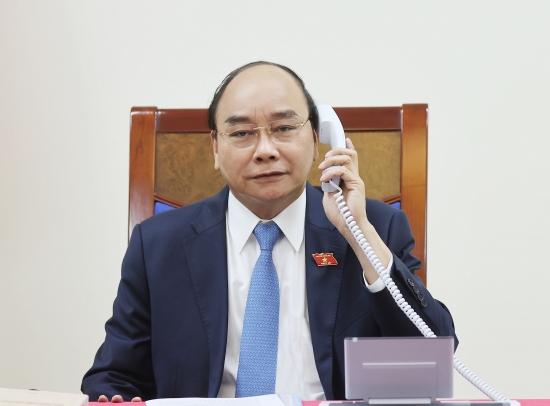 Thủ tướng Nguyễn Xuân Phúc điện đàm với Tổng thống nước Cộng hòa Chi-lê
