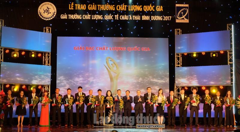 73 doanh nghiep nhan giai thuong chat luong quoc gia nam 2017