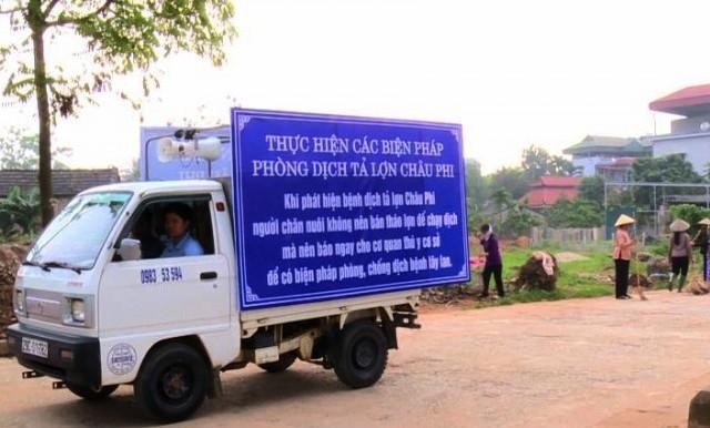 Làm tốt công tác tuyên truyền để cách ly, dập dịch tả lợn châu Phi