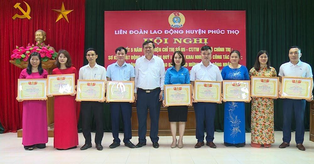 Đẩy mạnh thực hiện Chỉ thị số 05 của Bộ Chính trị trong các cấp Công đoàn huyện Phúc Thọ