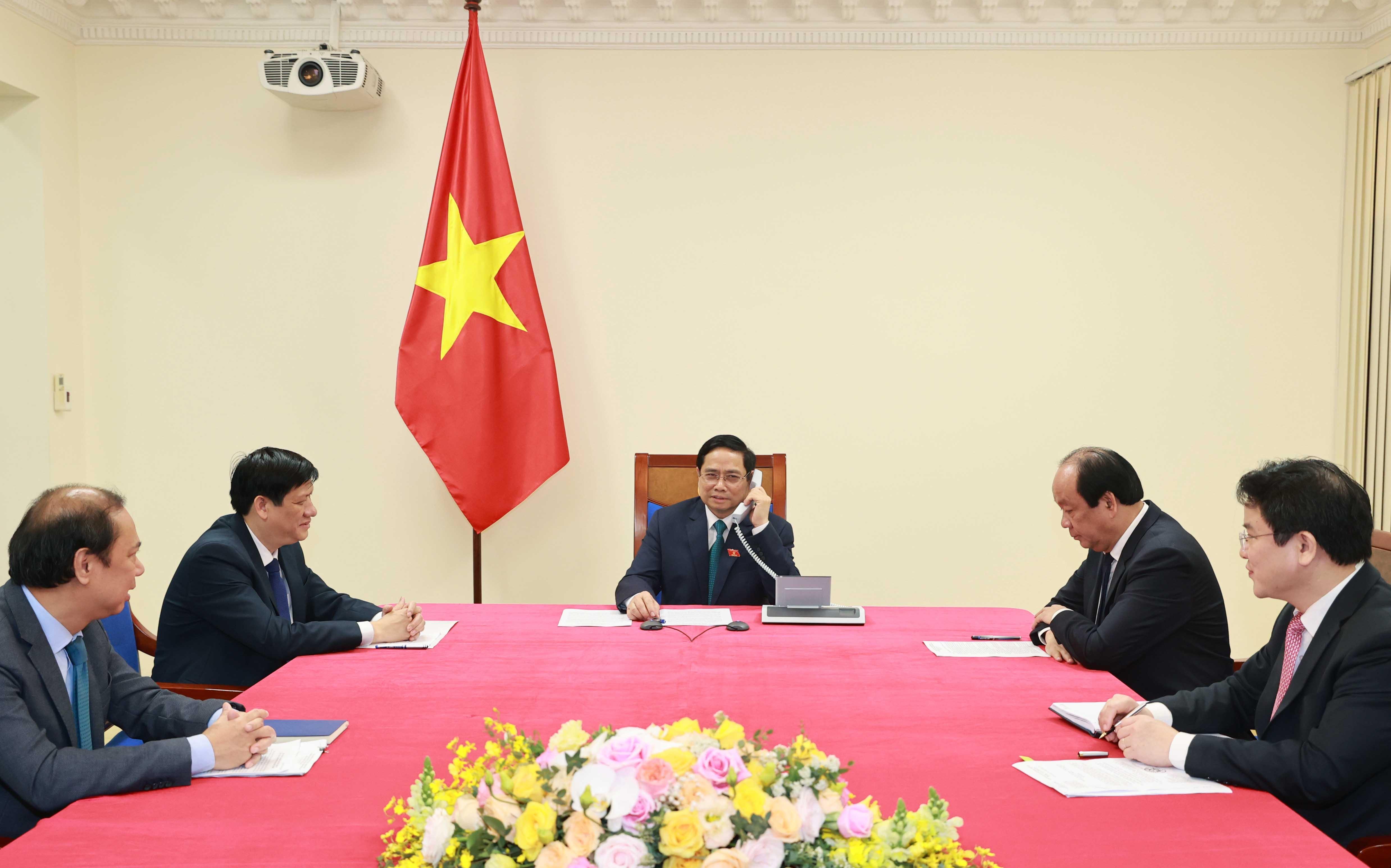 Thủ tướng Lào và Thủ tướng Campuchia điện đàm chúc mừng Thủ tướng Chính phủ Phạm Minh Chính