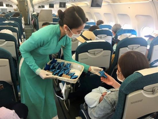 Vietnam Airlines chia sẻ thông điệp bảo vệ sao biển trên các chuyến bay đến Phú Quốc