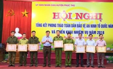 Huyện Phúc Thọ với phong trào toàn dân bảo vệ an ninh tổ quốc