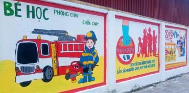 Tuyên truyền phòng cháy chữa cháy qua tranh bích họa tuyệt đẹp