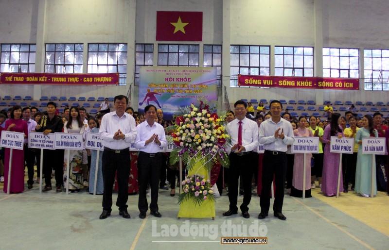 Sôi nổi Hội khỏe CNVCLĐ huyện Phúc Thọ năm 2019
