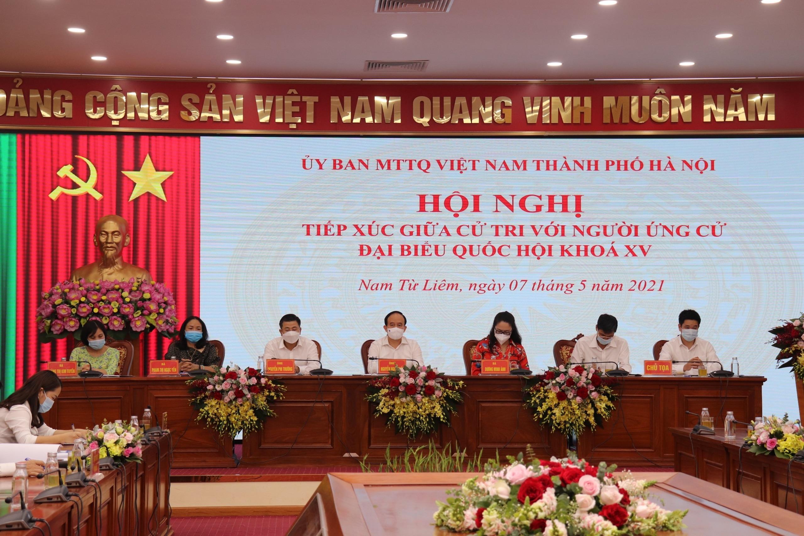Cử tri quận Nam Từ Liêm đánh giá cao chương trình hành động của các ứng cử viên đại biểu Quốc hội khóa XV
