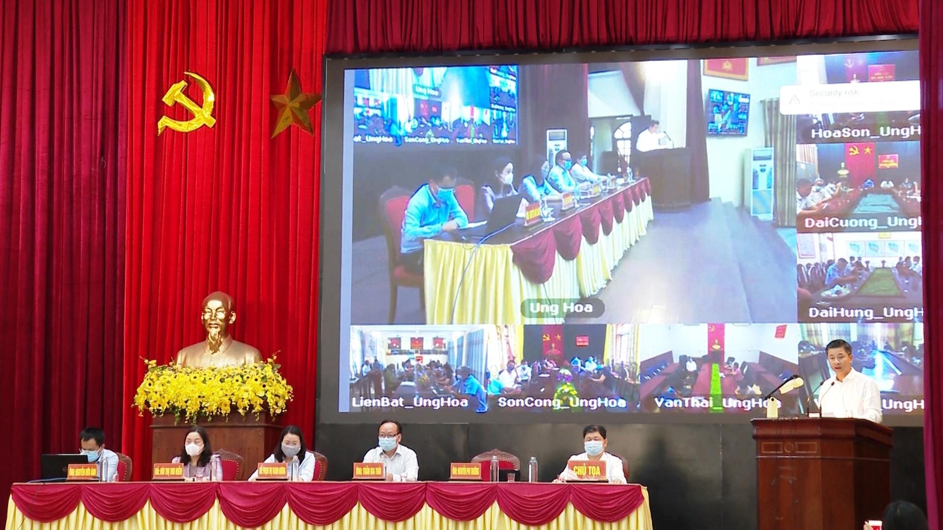 Người ứng cử đại biểu Hội đồng nhân dân thành phố Hà Nội tiếp xúc cử tri huyện Ứng Hòa