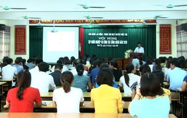 200 cán bộ công đoàn được tập huấn về công tác tài chính và kiểm tra