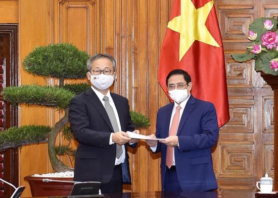 Chính phủ Nhật Bản hỗ trợ Việt Nam 1 triệu liều vắc xin để phòng, chống Covid-19