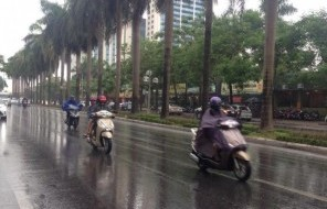 Người dân Thủ đô sung sướng đón những trận 'mưa vàng' sau đợt nắng nóng kéo dài