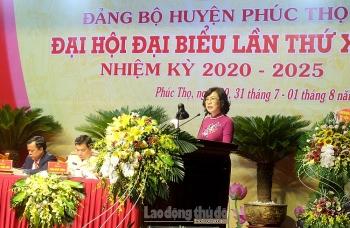 Bà Lê Thị Thu Hằng tái đắc cử Bí thư Huyện ủy Phúc Thọ