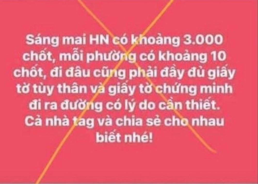 Hà Nội: Xử phạt 12,5 triệu đồng cá nhân thông tin sai sự thật về phòng dịch
