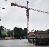 Cần siết chặt quản lý việc vận hành cần trục tháp trong thi công xây dựng